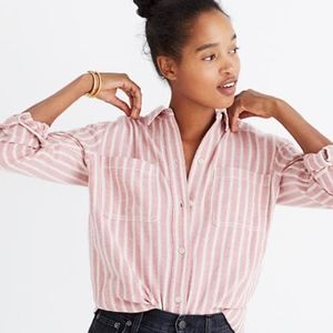 MADEWELL Women's sz small Craig Pink button shirt